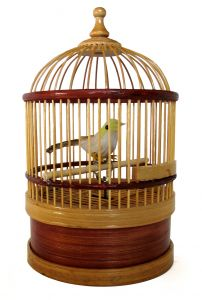 Clockwork canary in a cage