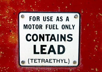 A leaded gasoline sign. (Source: HowStuffWorks.com)